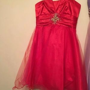 Dresses & Skirts - Red Dress with pink tule underneath